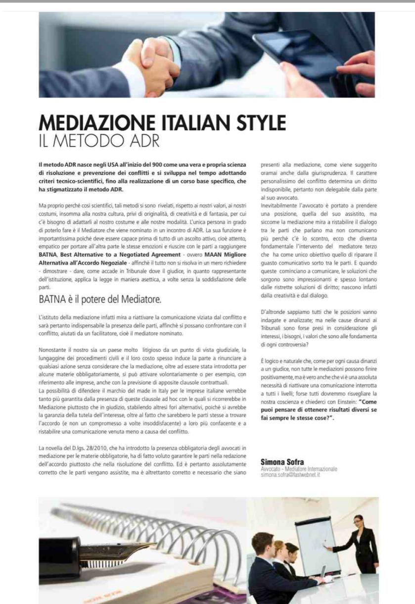 mediazione Italian Style